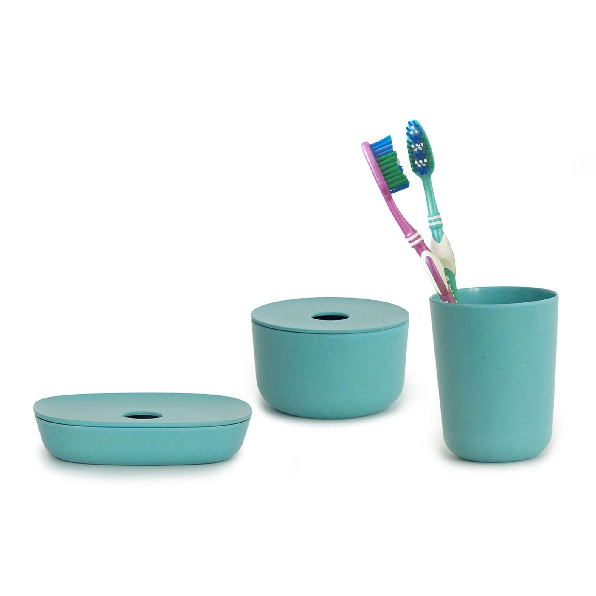 Ekobo / Trio BANO turquoise pour la salle de bain