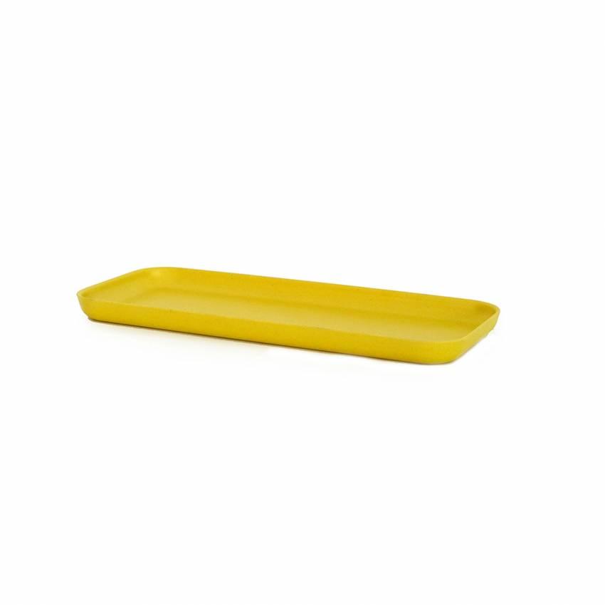 Petit plateau en bambou BANO jaune - Ekobo