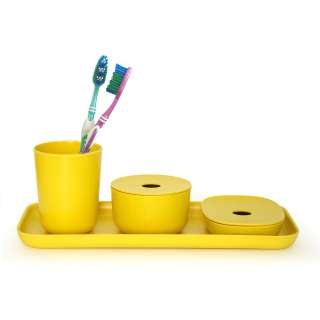 Set complet salle de bain BANO jaune - Ekobo