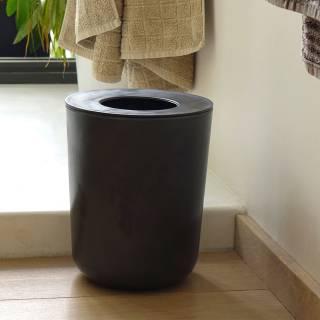 Poubelle BANO pour salle de bain / Noir - Ekobo
