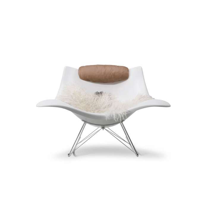 Rocking-chair indoor-outdoor STINGRAY / Coque PVC - Fredericia