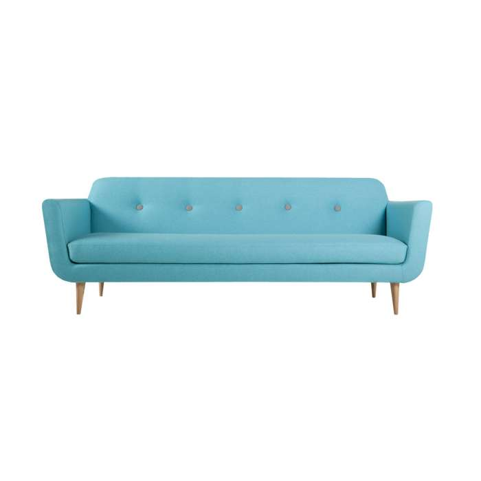 Sits / Canapé OTTO style années 50 turquoise