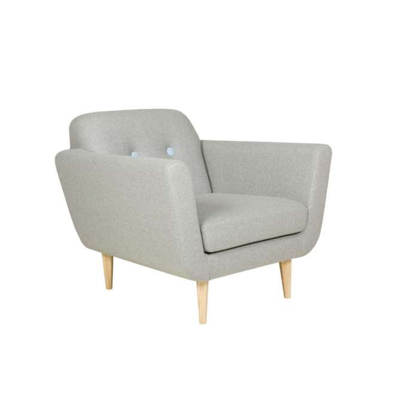 Sits / Fauteuil OTTO style années 50 gris clair