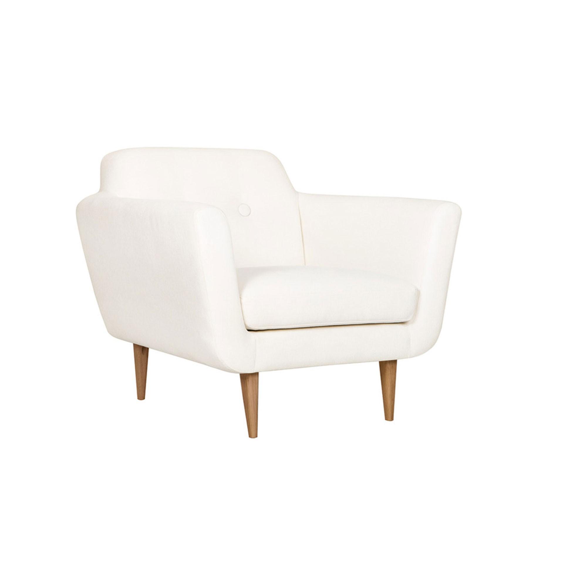 Style Années 50 Otto Cassé Fauteuil Sits Blanc nwZ0kNPX8O