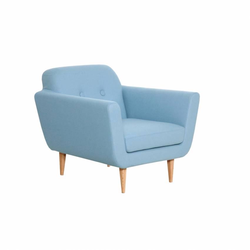 Sits / Fauteuil OTTO style années 50 bleu