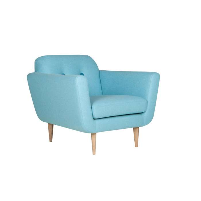 Sits / Fauteuil OTTO style années 50 turquoise