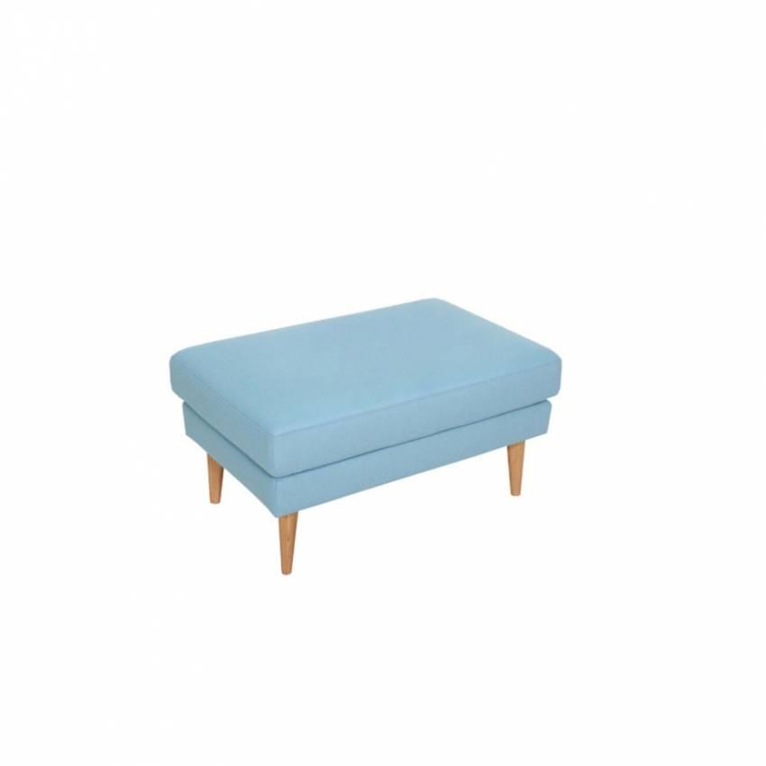 Sits / Tabouret repose pieds OTTO style années 50 bleu