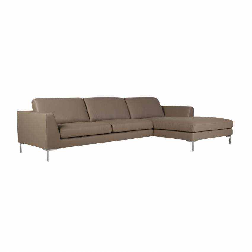 Sits / Canapé d'angle OHIO cuir haut de gamme gris