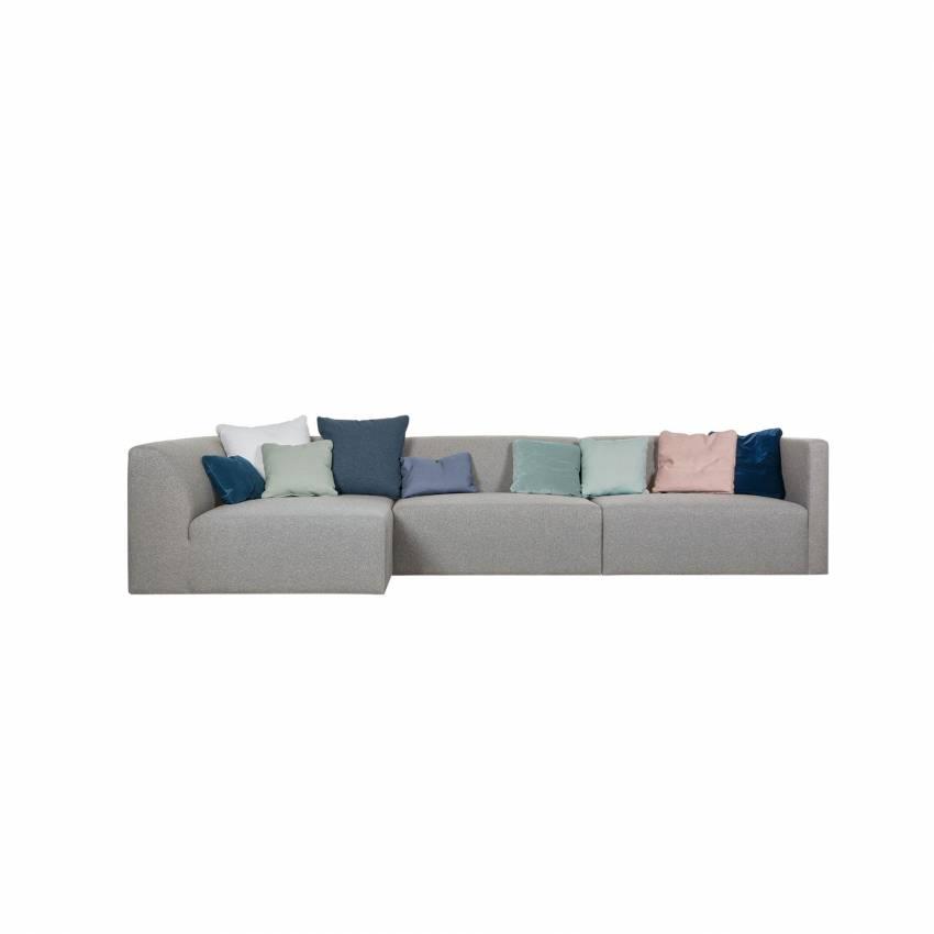Sits / Canapé d'angle JOHN 3 éléments tissu poem gris
