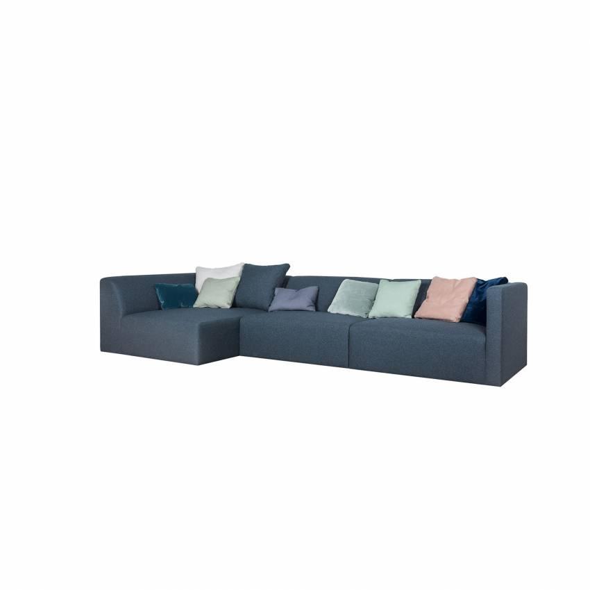 Sits / Canapé d'angle JOHN 3 éléments tissu poem bleu foncé