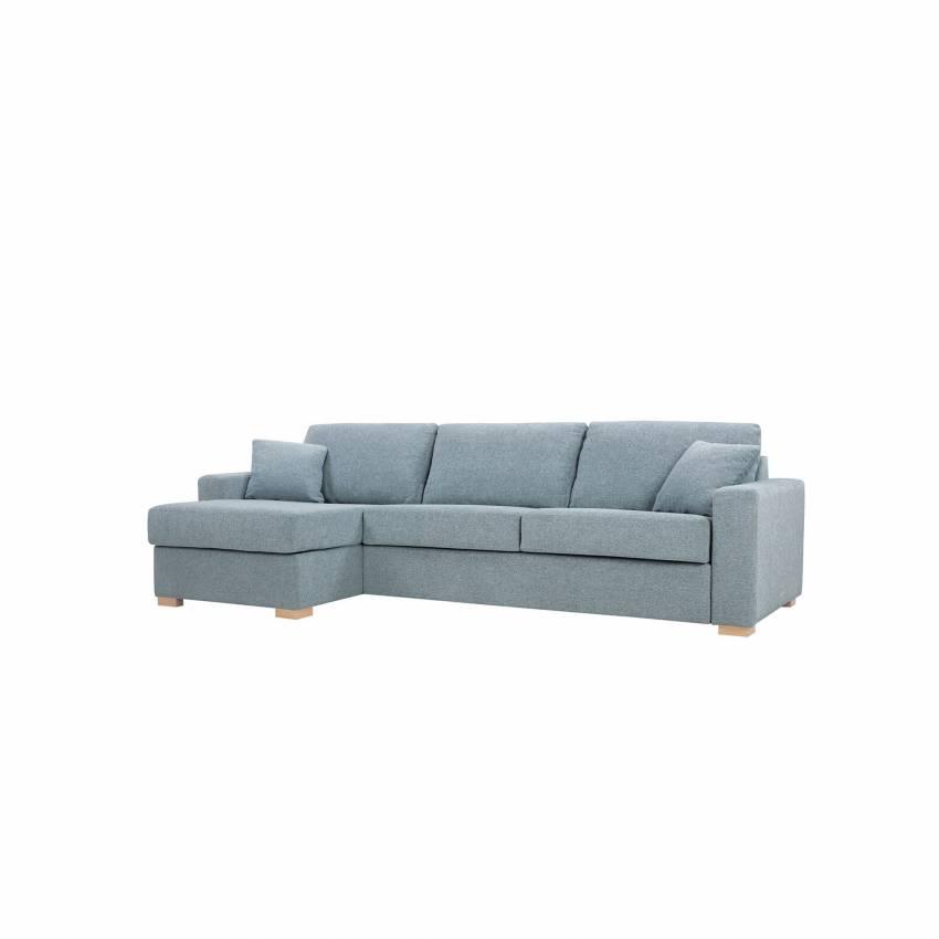 Canapé d\'angle convertible LUKAS / 3 places / Piètement bois + 6 coloris
