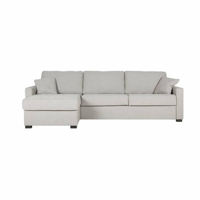 Sits / Canapé d'angle convertible LUKAS tissu origin gris clair