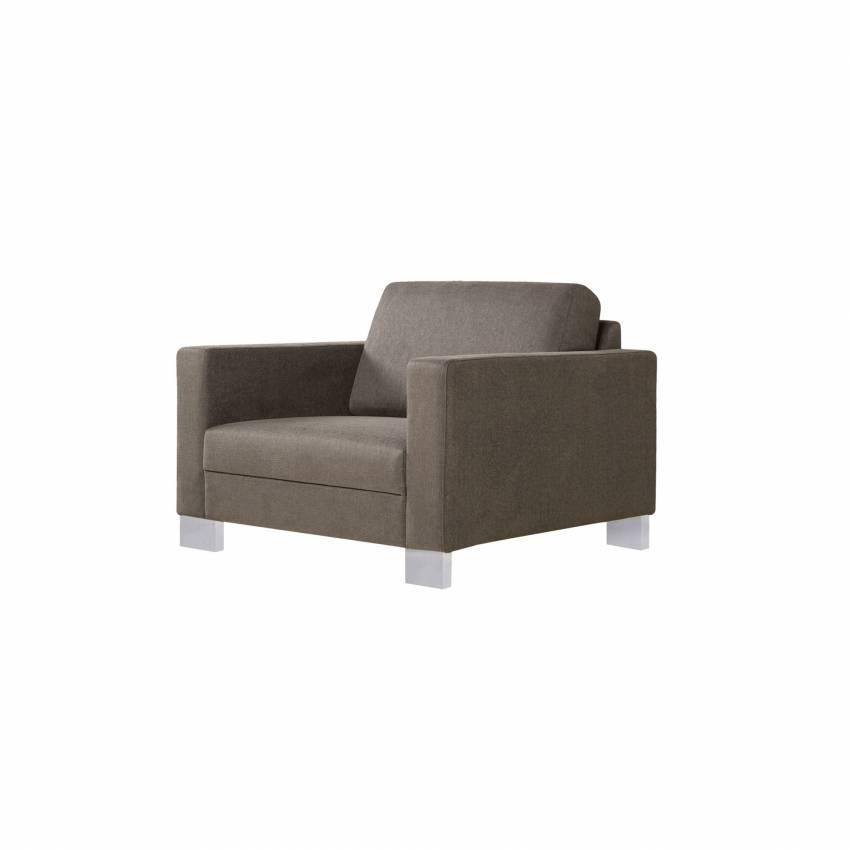 Sits / Fauteuil QUATTRO style italien en tissu gris