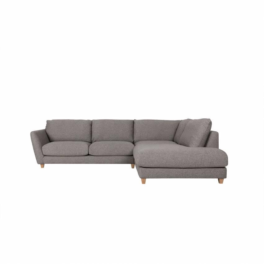 Sits / Canapé d'angle VIKTORIA 2 places + méridienne gris