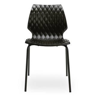 Metalmobil / Chaise outdoor UNI noir pieds noir