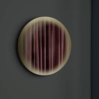 Eno Studio / Miroir rond FADING Or - Ø 103 cm