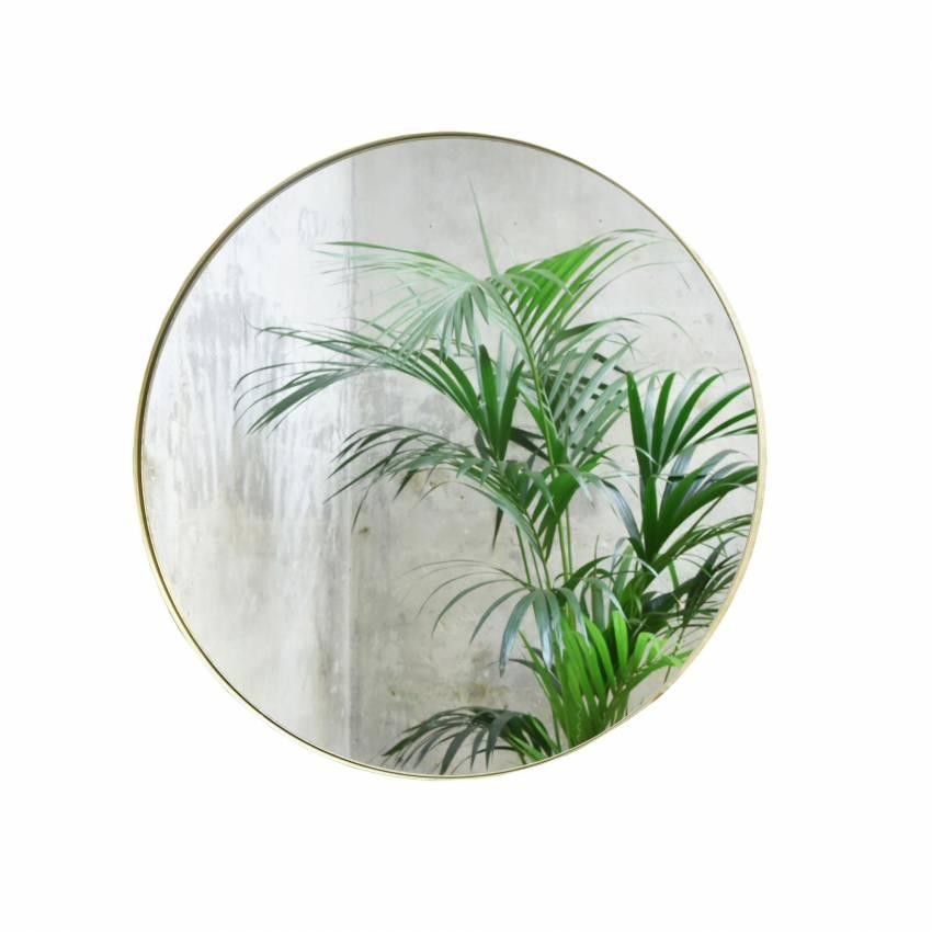 Miroir rond CRUZIANA laiton / Eno Studio