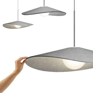 Suspension BOLA FELT en feutrine / Gris / Pablo Design