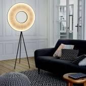 Lampadaire IRIS LED / H. 1,65 m / Tissu Blanc