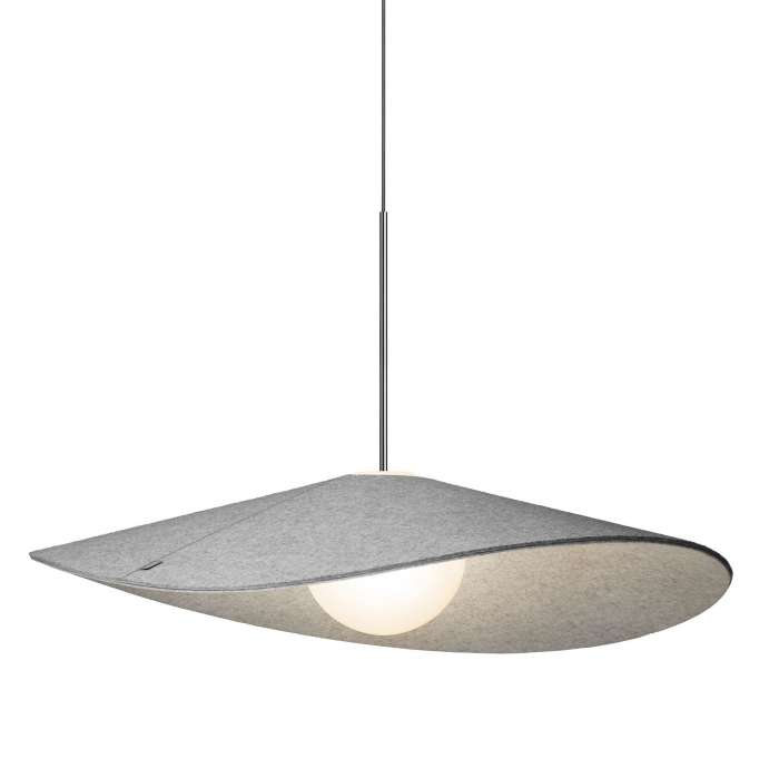 Pablo Design / Suspension acoustique BOLA FELT PEBBLE/GREY en feutrine