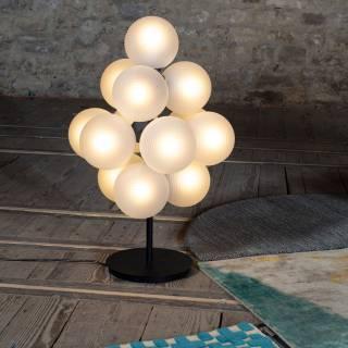 Pulpo / Lampe à poser STELLAR small / Verre blanc opaque