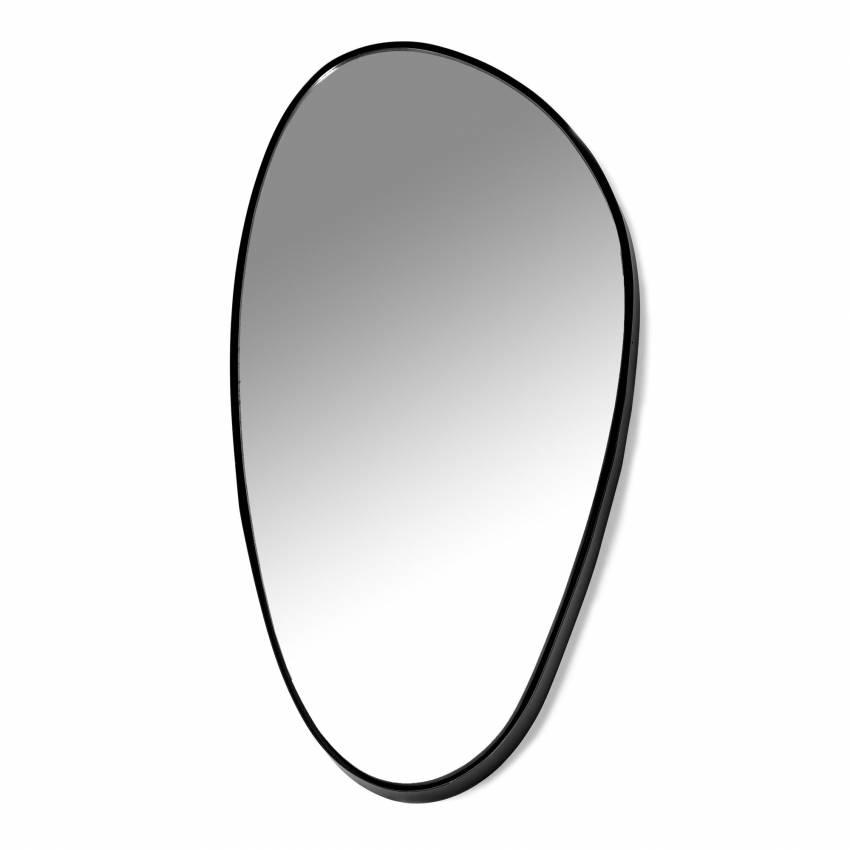 Miroir MIRROR D chez Serax / Cadre Noir / 49x23