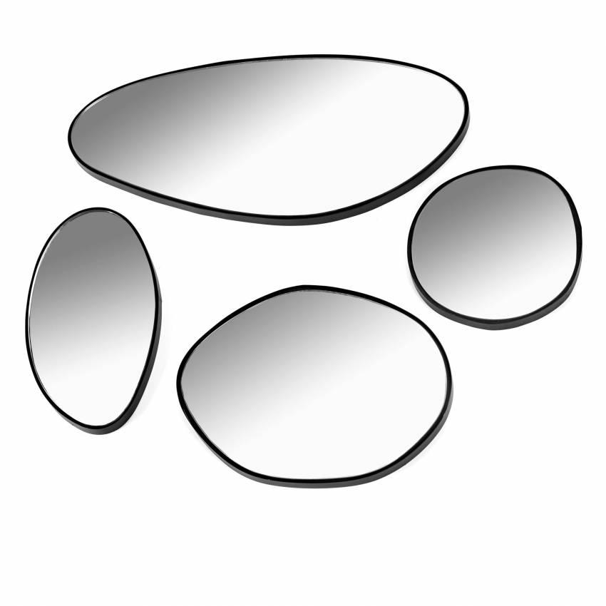 Serax / Lot de 4 miroirs MIRROR cadre noir