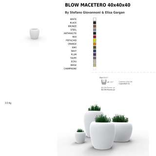 Vondom / Lot de 4 jardinières BLOW / Blanc