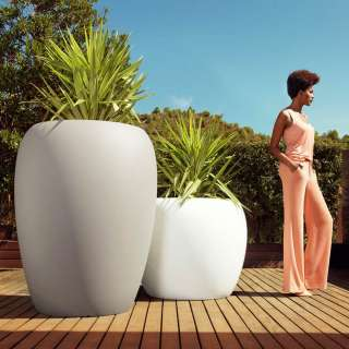 Lot de 2 pots BLOW / Blanc et Sable / Vondom