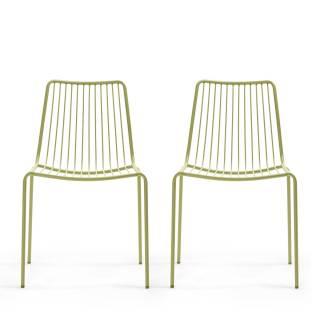 Lot de 2 chaises de jardin NOLITA 3651 vert - Pedrali