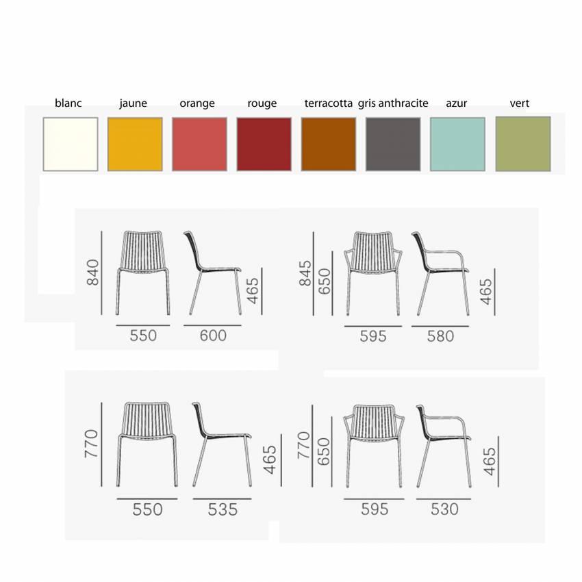 Lot de 2 Chaises de jardin NOLITA / Métal Rouge