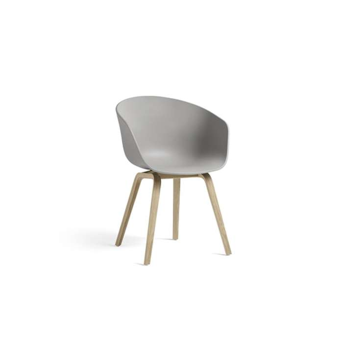 Fauteuil ABOUT A CHAIR AAC22 / CONCRETE GREY / HAY