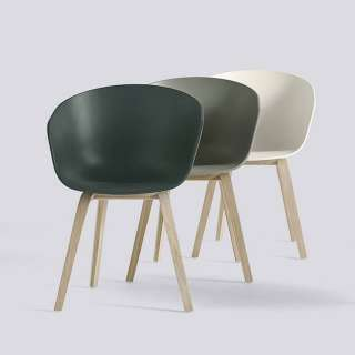 Fauteuil ABOUT A CHAIR AAC22 / DUSTY GREEN / HAY