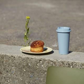 3 mugs de transport PAQUET Coffee Cup / Jaune, Gris et Rouille - HAY