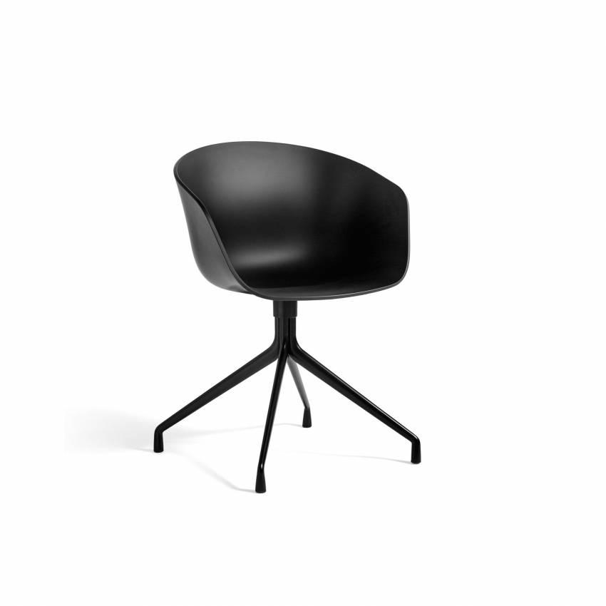 Chaise AAC 20 noir / pieds noir - HAY