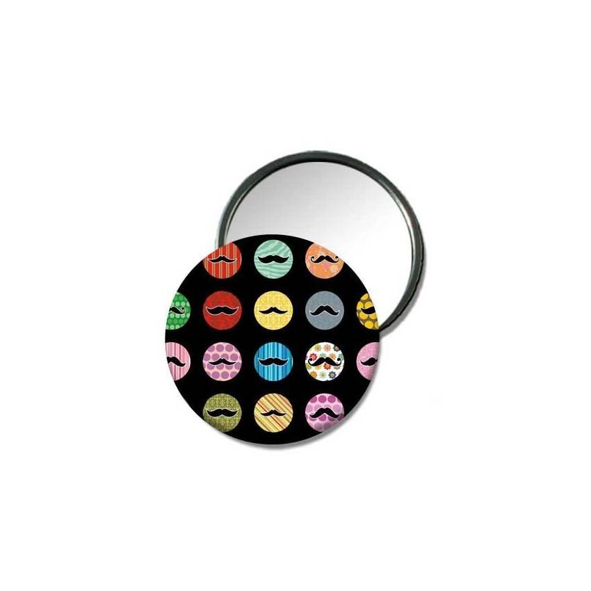 Miroir de poche «Belles moustaches!!!»