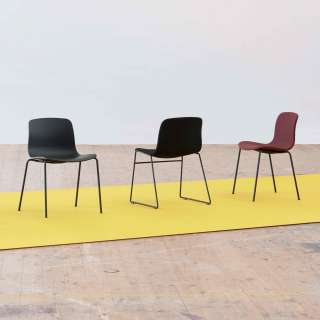 HAY / Chaise AAC16 orange - pieds noir