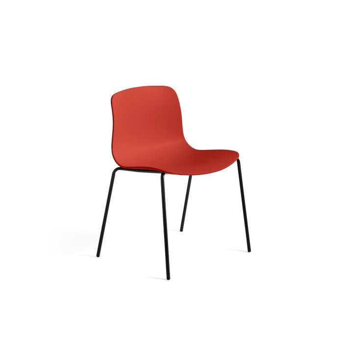 HAY / Chaise AAC16 rouge - pieds noir