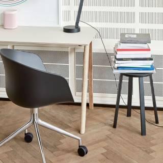 Chaise à roulettes AAC 24 / Noir pieds aluminium - hay