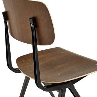 HAY / Chaise Result Chair / Chêne teinté noir pieds noir