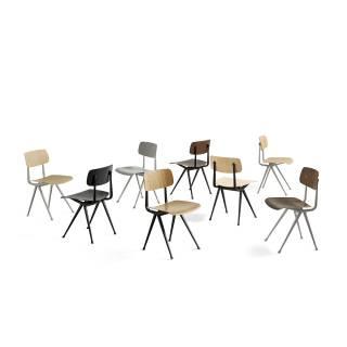 HAY / Chaise Result Chair / Chêne laqué clair pieds noir