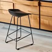 Hay / Tabouret AAS 38 / Vert pastel pieds noir / H 65 ou 75 cm