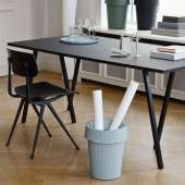 Hay / Table + renfort LOOP STAND / Noir / 4 dimensions