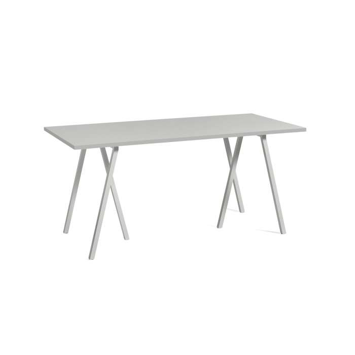 Hay / Table + renfort LOOP STAND / Gris / 4 dimensions