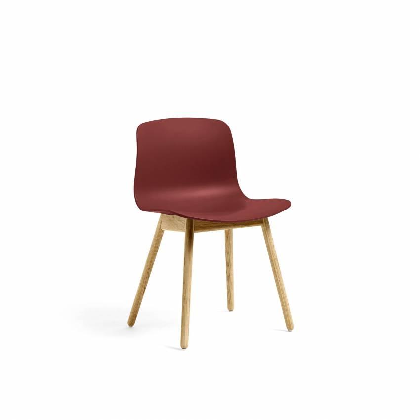 Chaise ABOUT A CHAIR AAC12 / Brique - Pieds chêne laqué