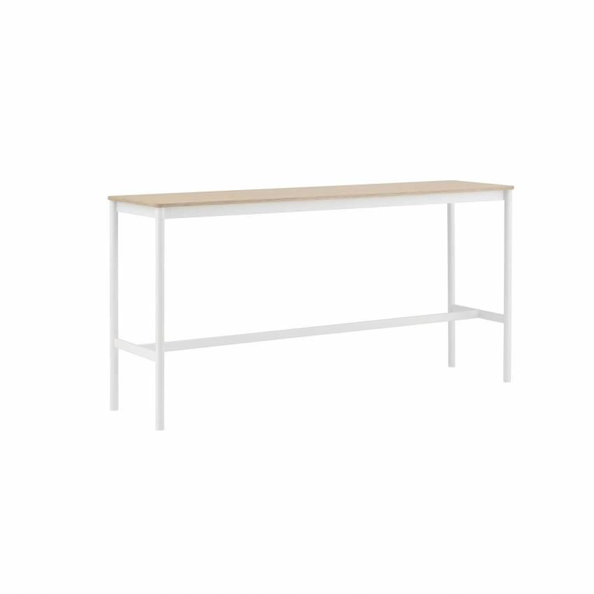 Table BASE HIGH TABLE / Blanc / Chêne
