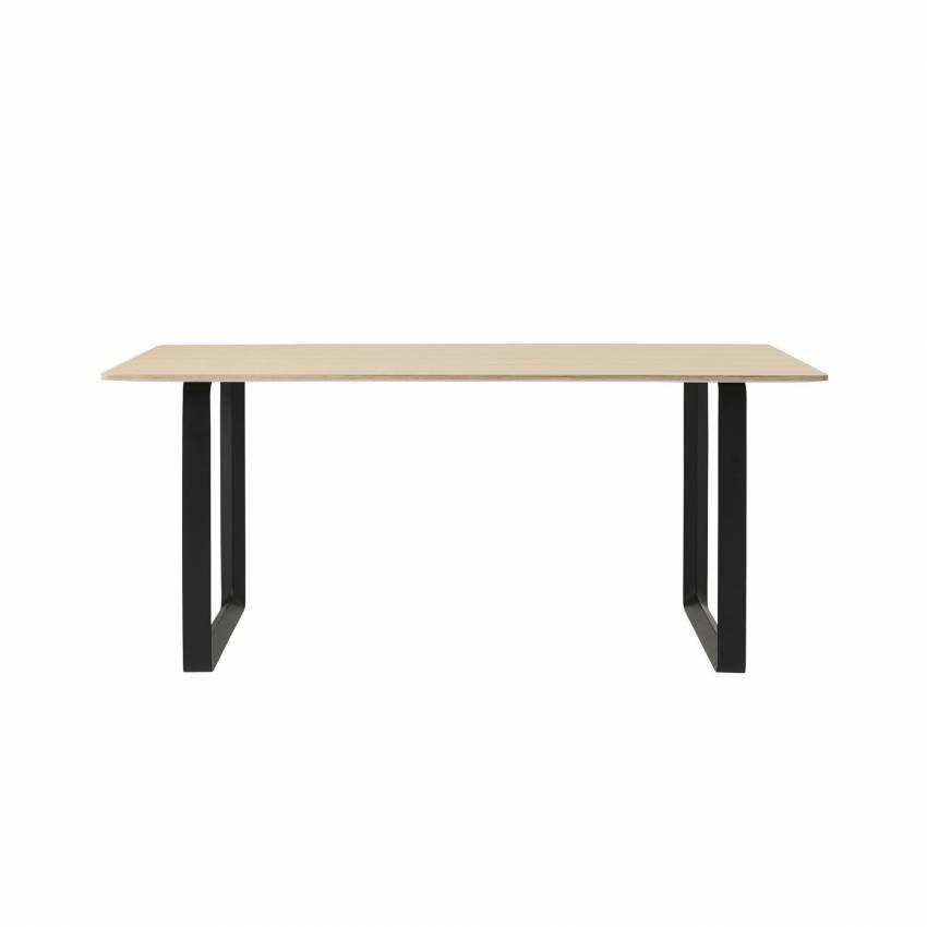 MUUTO / Table de repas 70/70 / Noir / Chêne