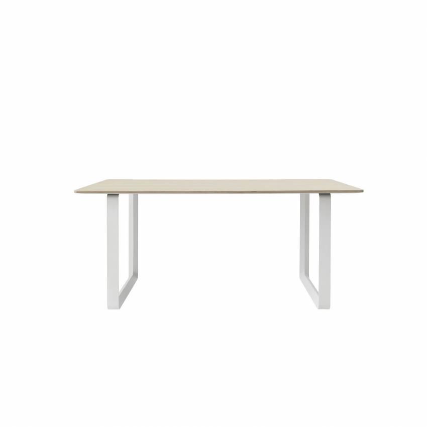 MUUTO / Table de bureau 70/70 / Blanc / Chêne