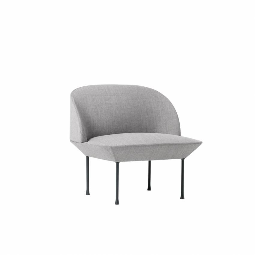 Fauteuil de canapé OSLO LOUNGE / gris clair + 4 coloris