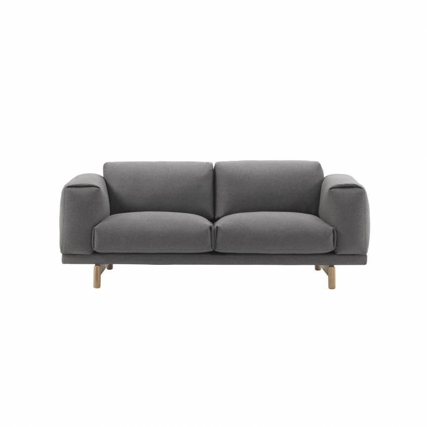 Canapé REST SOFA / 2 ou 3 places / gris moyen + 7 coloris